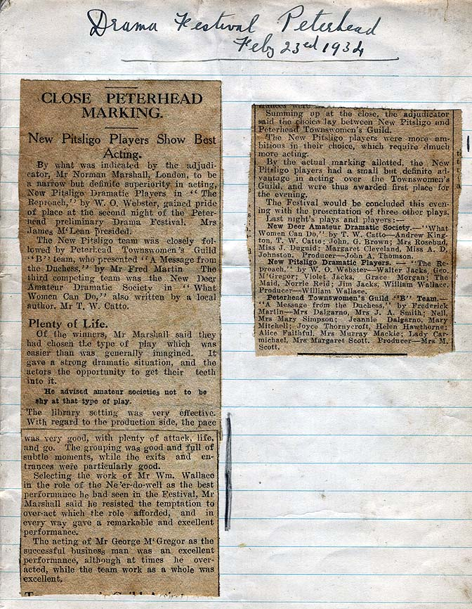 A Collection Of News Paper Clippings From Through The Years