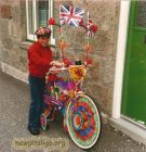 Alan Burnett with his decorated bike