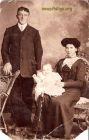 This is my grandfather, Jake Norrie and granny Williamina Ratray with first born Dod.