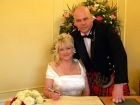 Mick and Kelly Pudsey on their recent wedding day
